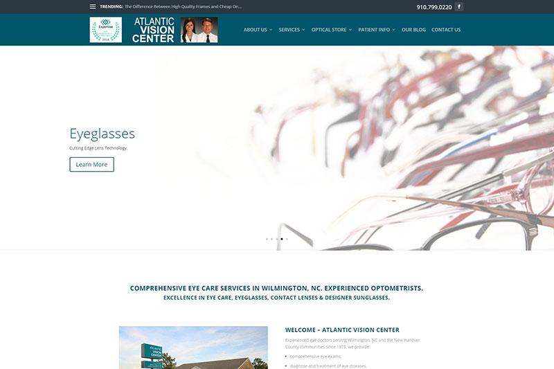 Atlantic Vision Center desktop large portfolio