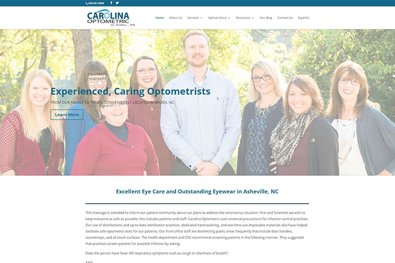 carolina optometric desktop large portfolio