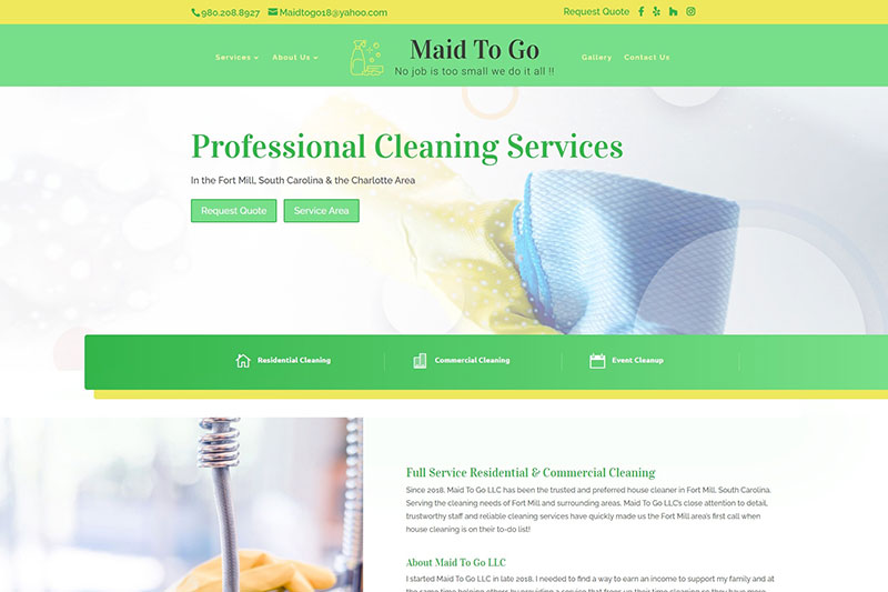 maid to go desktop large portfolio