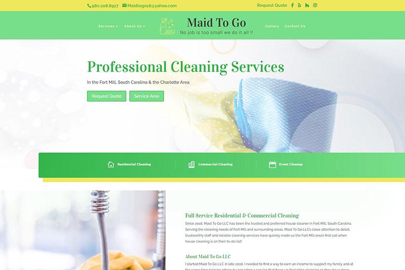 maid to go desktop large portfolio