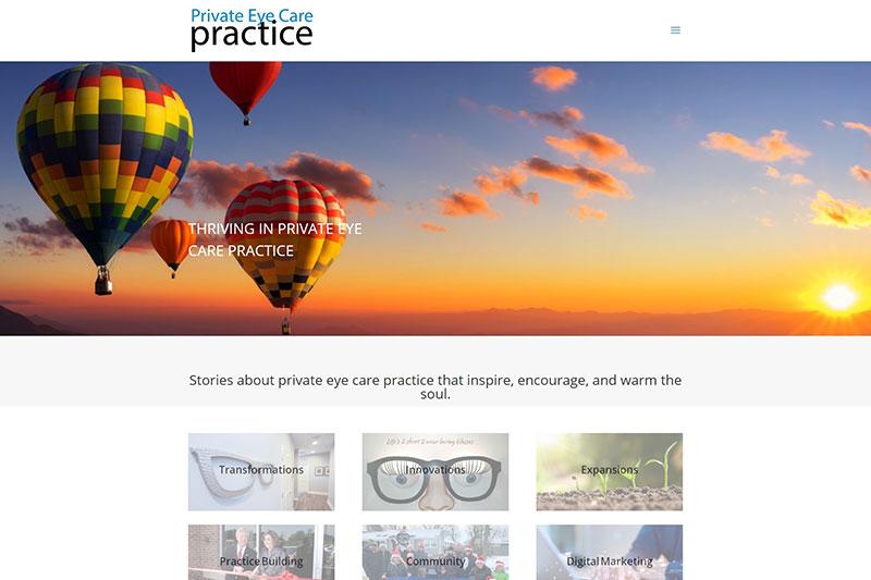 private eye care practice desktop large portfolio